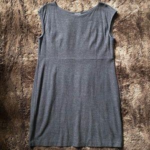 EILEEN FISHER gray wool sleeveless dress XL